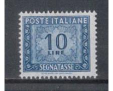 1955/66 - LOTTO/7827 - REPUBBLICA - 10 LIRE SEGNATASSE