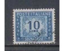 1955/66 - LOTTO/7827U - REPUBBLICA - 10 LIRE SEGNATASSE USATO
