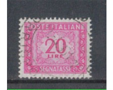 1955/66 - LOTTO/7828U - REPUBBLICA - 20 LIRE SEGNATASSE - USATO