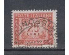 1955/66 - LOTTO/7829U - REPUBBLICA - 25 LIRE SEGNATASSE USATO