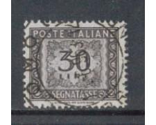 1955/66 - LOTTO/7830U - REPUBBLICA - 30 LIRE SEGNATASSE - USATO