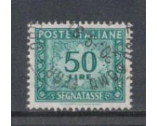 1955/66 - LOTTO/7832U - REPUBBLICA - 50 LIRE SEGNATASSE - USATO