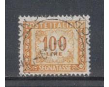 1955/66 - LOTTO/7833U - REPUBBLICA - 100 LIRE SEGNATASSE - USATO