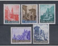 1957 - LOTTO/7851 - SAN MARINO - VEDUTE 5v. NUOVI