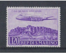 1959 - LOTTO/7859 - SAN MARINO - VOLO S.MARINO LONDRA POSTA AEREA 1v. NUOVO