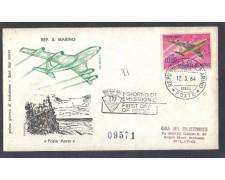 SAN MARINO -1964 - LOTTO/7887Z - 1000 LIRE BOEING 727 - FDC