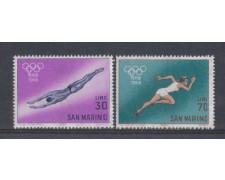 1964 - LOTTO/7888 - SAN MARINO - PREOLIMPICA VERSO TOKIO