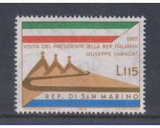 1965 - LOTTO/7900 - SAN MARINO - VISITA SARAGAT