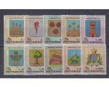 1968 - LOTTO/7912 - SAN MARINO - STEMMI