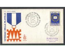 1972 - LOTTO/7938Z - SAN MARINO - VETERANI FILATELIA - FDC