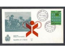 1973 - LOTTO/7943ZA - SAN MARINO - GIOCHI DELLA GIOVENTU' - FDC