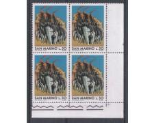 1975 - LOTTO/7958Q - SAN MARINO - SCAMPO DEI CENTOMILA - QUARTINA NUOVI