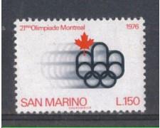 1976 - LOTTO/7967 - SAN MARINO - OLIMPIADE DI MONTREAL