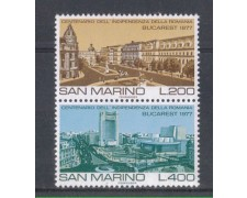 1977 - LOTTO/7978 - SAN MARINO -  VEDUTE DI BUCAREST 2v. - NUOVI