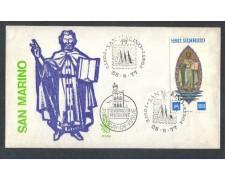 1977 - LOTTO/7979Z - SAN MARINO - CENTENARIO FRANCOBOLLI - FDC