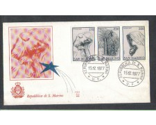 1977 - LOTTO/7982ZB - SAN MARINO - NATALE - FDC