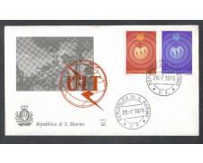 1978 - LOTTO/7987ZA - SAN MARINO - INGRESSO U.I.T - FDC