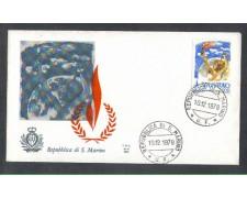 1978 - LOTTO/7990Z - SAN MARINO - DIRITTI UOMO - FDC