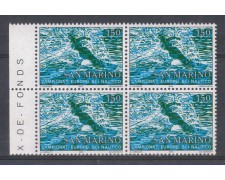 1979 - LOTTO/7996Q - SAN MARINO - SCI NAUTICO - QUARTINA