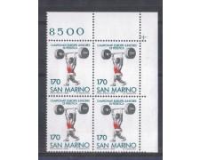 1980 - LOTTO/8009Q - SAN MARINO - SOLLEVAMENTO PESI - QUARTINA
