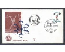 1980 - LOTTO/8009Z - SAN MARINO - SOLLEVAMENTO PESI - FDC