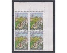 1980 - LOTTO/8010Q - SAN MARINO - TURISMO - QUARTINA