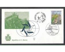 1980 - LOTTO/8010Z - SAN MARINO - TURISMO - FDC