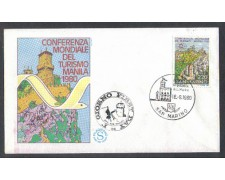 1980 - LOTTO/8010ZA - SAN MARINO - TURISMO - FDC