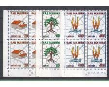 1981 - LOTTO/8018Q - SAN MARINO - PIANO REGOLATORE - QUARTINE NUOVI