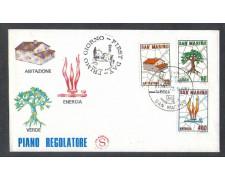1981 - LOTTO/8018ZA - SAN MARINO - PIANO REGOLATORE - FDC
