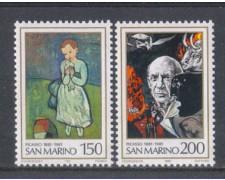 1981 - LOTTO/8019 - SAN MARINO - PABLO PICASSO 2v. - NUOVI