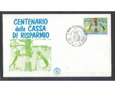 1982 - LOTTO/8022ZA - SAN MARINO - CASSA DI RISPARMIO - FDC