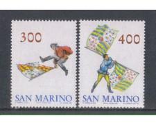1984 - LOTTO/8044 - SAN MARINO - SBANDIERATORI