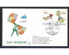 1984 - LOTTO/8044Z - SAN MARINO - SBANDIERATORI - FDC