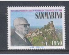 1984 - LOTTO/8048 - SAN MARINO - VISITA DI PERTINI - NUOVO
