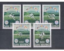 1985 - LOTTO/8052 - SAN MARINO - GIOCHI DEI PICCOLI STATI - NUOVI
