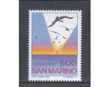 1985 - LOTTO/8053 - SAN MARINO - EMIGRAZIONE - NUOVO