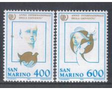 1985 - LOTTO/8054 - SAN MARINO - ANNO DELLA GIOVENTU' 2V. - NUOVI