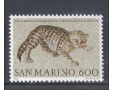 1985 - LOTTO/8059 - SAN MARINO - FEDERAZIONE FELINA - NUOVO