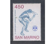 1986 - LOTTO/8066 - SAN MARINO - TENNIS DA TAVOLO