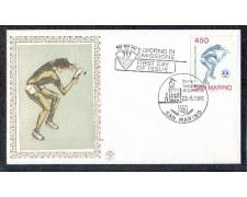 1986 - LOTTO/8066Z - SAN MARINO - TENNIS DA TAVOLO - FDC