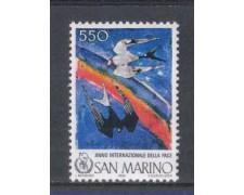 1986 - LOTTO/8067 - SAN MARINO - ANNO DELLA PACE