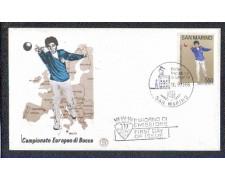 1986 - LOTTO/8069Z - SAN MARINO - CAMPIONATO DI BOCCE - FDC