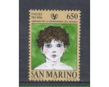 1986 - LOTTO/8071 - SAN MARINO - UNICEF - NUOVO
