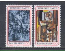 1987 - LOTTO/8076 - SAN MARINO - BIENNALE D'ARTE 2v. - NUOVI
