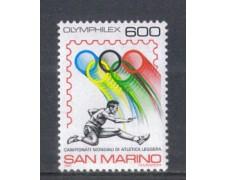1987 - LOTTO/8079 - SAN MARINO - OLYMPHILEX - NUOVO