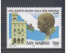 1987 - LOTTO/8080 - SAN MARINO - NON VIOLENZA - NUOVO