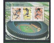 1988 - LOTTO/8088 - SAN MARINO - OLIMPIADE DI SEUL - FOGLIETTO