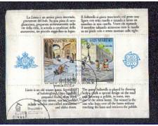 1989 - LOTTO/8092U - SAN MARINO - EUROPA - FOGLIETTO USATO
