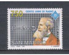 1991 - LOTTO/8118 - SAN MARINO - INVENZIONE DELLA RADIO - NUOVO
